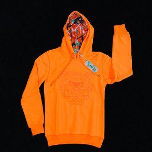 Kenzo Paris Neon Orange Women Hoodie
